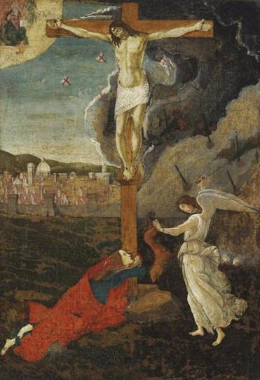 Mystic Crucifixion Sandro Botticelli (Italian, 1444/45-1510) Ca. 1500 Tempera and oil on canvas (transferred from panel) *Harvard Art Museums/Fogg Museum, Friends of the Fogg Art Museum Fund *Courtesy, Museum of Fine Arts, Boston 21botticelli